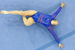 Sasa Golob of Slovenia competes in the Floor Exercise during Final day 2 of Artistic Gymnastics World Challenge Cup Ljubljana, on April 20, 2014 in Hala Tivoli, Ljubljana, Slovenia. (Photo by Matic Klansek Velej / Sportida.com)
