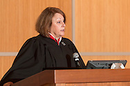 Goshen, New York - Orange County Family Court Judge Lori Currier-Woods presided over a Naturalization ceremony at the county Emergency Services Center on Nov. 17, 2016.
