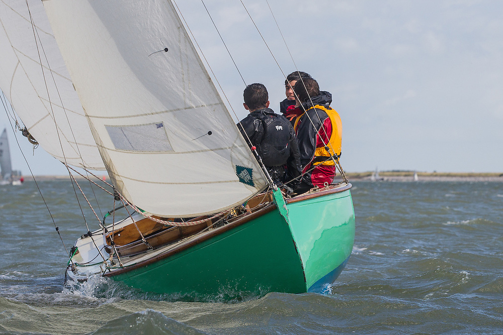 England, Burnham-on-Crouch. 25th August 2012. Burnham Week. Royal Burnham One Design fleet. Simonetta, RBOD16
