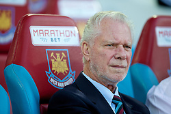 UPTON PARK, ENGLAND - Friday, September 12, 2014: West Ham United's chairman David Gold before the Under 21 FA Premier League match at Upton Park. (Pic by David Rawcliffe/Propaganda)