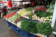 vegetables stalll in haifa israel