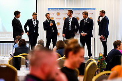 General views of Hospitality in the Exeter Suite prior to kick off as Greg Holmes, Sean Lonsdale, Jack Maunder and Phil Dollman are interviewed - Mandatory by-line: Ryan Hiscott/JMP - 21/09/2019 - RUGBY - Sandy Park - Exeter, England - Exeter Chiefs v Bath Rugby - Premiership Rugby Cup