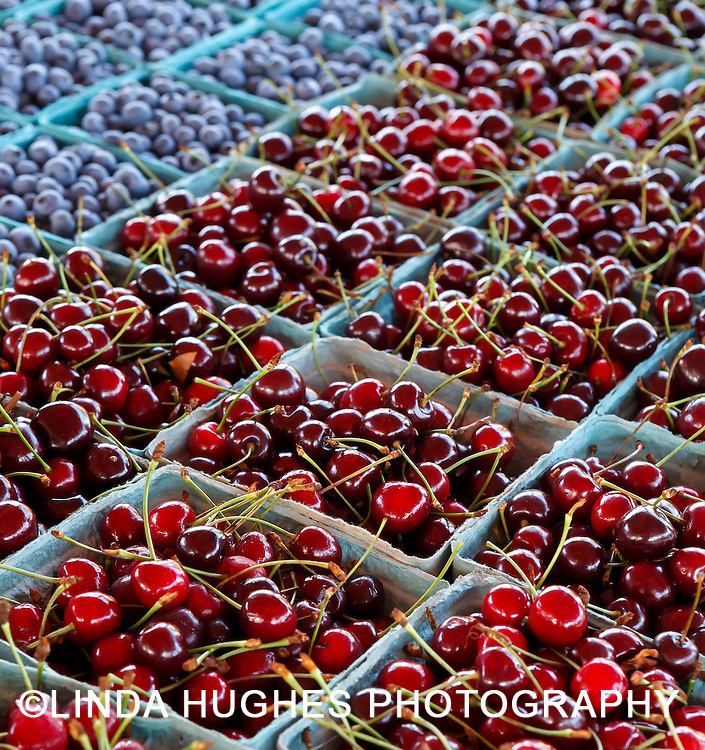 Ripe Cherries at a Local Farmer's Market
