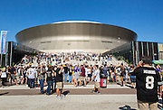 NEW ORLEANS, LA - SEPTEMBER 21:  Fans outside the Mercedes-Benz Superdome before a game between the New Orleans Saints and the Minnesota Vikings on September 21, 2014 in New Orleans, Louisiana.  The Saints defeated the Vikings 20-9.  (Photo by Wesley Hitt/Getty Images) *** Local Caption ***