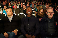 Picture by Alan Stanford/Focus Images Ltd +44 7915 056117<br /> 16/11/2013<br /> Chris Eubank senior enjoying the fight  during this sons  middleweight bout at Glow Bluewater, Greenhithe.