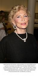 BARONESS STEFANIA VON KORIES ZU GOETZEN at a party in London on 30th November 2000.OJS 7