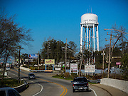 Lake Station's xxx-gallon water tower, creates water pressure to push water through the system to homes and businesses.