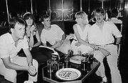 Group of young adults at the Golden Monkey. Guernsey 1986