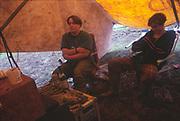 Tea time, Glastonbury, 1992.