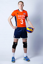 20150506 NED: Selectie Nederlands volleybal team mannen, Arnhem<br />Op Papendal werd het Nederlands team volleybal seizoen 2015-2016 gepresenteerd / Daan van Haarlem<br />©2015-FotoHoogendoorn.nl / Pim Waslander