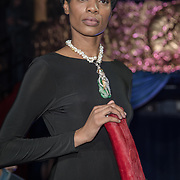 Pauline Wong  is a jewellery of the Lifestyle with Friends showcases at the International designers night show & influencers party - Catwalk Show on 27 April 2018 at Cafe de Paris, in London.