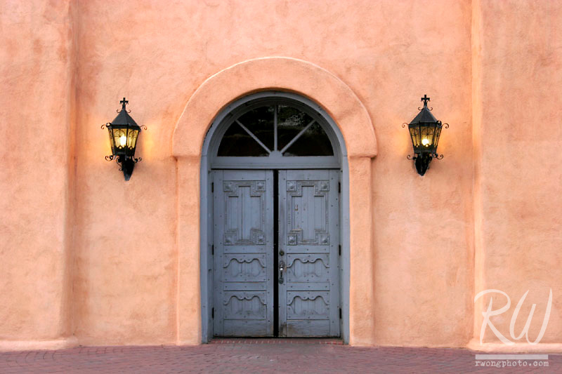 Door of San Felipe Neri Catholic Church, Old Town Albuquerque, New Mexico
