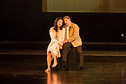 Karen Chila-Ling Ho as Violetta and Alex Richardson as Alfredo in Verdi'a La Traviata in the Philharmonia Orchestra's production at the Rose Theater at Jazz at Lincoln Center.