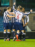 Football - 2016 / 2017 FA Cup - Third Round: Millwall vs. AFC Bournemouth<br /> <br /> Millwall celebrate their 2nd goal scored by Shaun Cummings of Millwall, at The Den.<br /> <br /> COLORSPORT/WINSTON BYNORTH