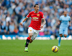 Angel Di Maria of Manchester United in action - Photo mandatory by-line: Rogan Thomson/JMP - 07966 386802 - 02/11/2014 - SPORT - FOOTBALL - Manchester, England - Etihad Stadium - Manchester City v Manchester United - Barclays Premier League.
