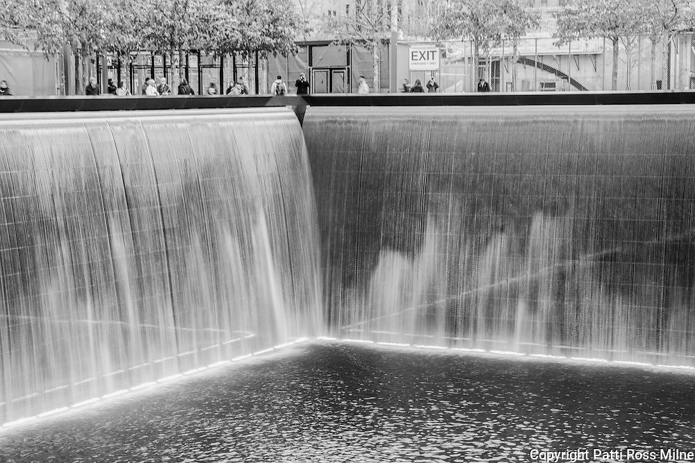 The memorial park at One World Trade Center in NYC.