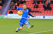Tom Kennedy during the Sky Bet League 1 match between Doncaster Rovers and Rochdale at the Keepmoat Stadium, Doncaster, England on 21 November 2015. Photo by Daniel Youngs.