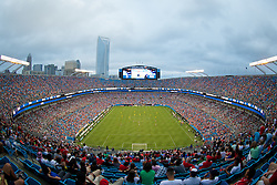 CHARLOTTE, USA - Saturday, August 2, 2014: Liverpool take on AC Milan during the International Champions Cup Group B match at the Bank of America Stadium on day thirteen of the club's USA Tour. (Pic by David Rawcliffe/Propaganda)