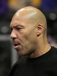 November 27, 2017 - Los Angeles, California, U.S - LaVar Ball attends the game between the Los Angeles Clippers and the Los Angeles Lakers on Monday November 27, 2017 at the Staples Center in Los Angeles, California. Clippers vs Lakers. (Credit Image: © Prensa Internacional via ZUMA Wire)