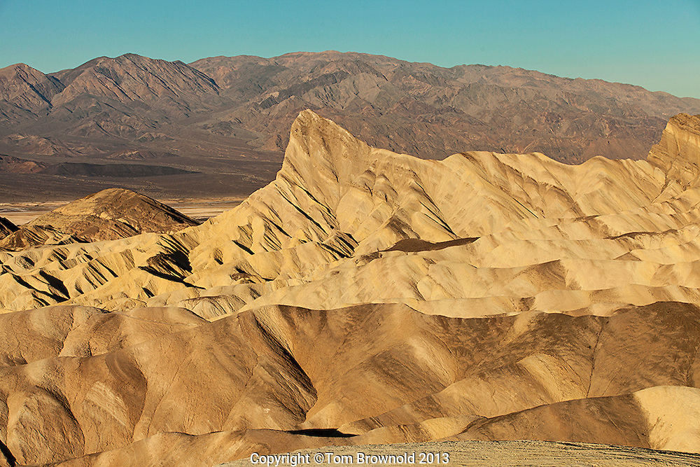 Zabriskie Point is composed of sediments from Furnace Creek Lake, which dried up 5 million years ago.