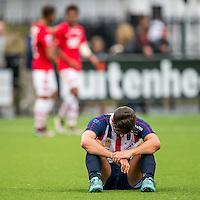 WIJDEWORMER - 03-09-2016, Jong AZ - Excelsior Maassluis, AFAS trainingscomplex,  3-2, teleurstelling, Excelsior Maassluis speler Hamit Alptekin.