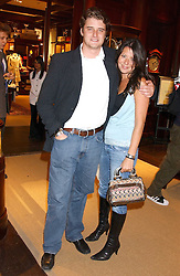 CHARLIE BEAMISH and NATHALIE POSNER at a party to celebrate the publication of Racing Style at Ralph Lauren, 1 New Bond Street, London on 8th September 2005.<br /><br />NON EXCLUSIVE - WORLD RIGHTS