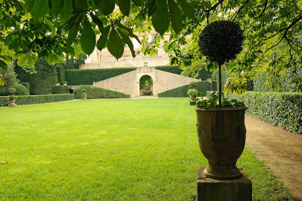 France, Languedoc Roussillon, Hérault, région Pézenas, Margon, château de Margon, le jardin