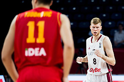 Davis Bertans of Latvia during basketball match between National Teams of Latvia and Montenegro at Day 11 in Round of 16 of the FIBA EuroBasket 2017 at Sinan Erdem Dome in Istanbul, Turkey on September 10, 2017. Photo by Vid Ponikvar / Sportida