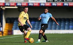 Shane Ferguson of Millwall passes the ball under pressure - Mandatory by-line: Arron Gent/JMP - 24/07/2019 - FOOTBALL - Roots Hall - Southend-on-Sea, England - Southend United v Millwall - pre season friendly