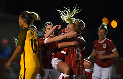 Danique Kerkdijk of Bristol City Women celebrates - Mandatory by-line: Paul Knight/JMP - 02/12/2017 - FOOTBALL - Stoke Gifford Stadium - Bristol, England - Bristol City Women v Brighton and Hove Albion Ladies - Continental Cup Group 2 South