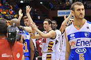 DESCRIZIONE : Milano Final Eight Coppa Italia 2014 Quarti di Finale Enel Brindisi - Umana Reyer Venezia<br /> GIOCATORE : Team<br /> CATEGORIA : Ritratto Delusione<br /> SQUADRA : Umana Reyer Venezia<br /> EVENTO : Final Eight Coppa Italia 2014 Milano<br /> GARA : Enel Brindisi - Umana Reyer Venezia<br /> DATA : 07/02/2014<br /> SPORT : Pallacanestro <br /> AUTORE : Agenzia Ciamillo-Castoria / Luigi Canu<br /> Galleria : Final Eight Coppa Italia 2014 Milano<br /> Fotonotizia : Milano Final Eight Coppa Italia 2014 Quarti di Finale Enel Brindisi - Umana Reyer Venezia<br /> Predefinita :