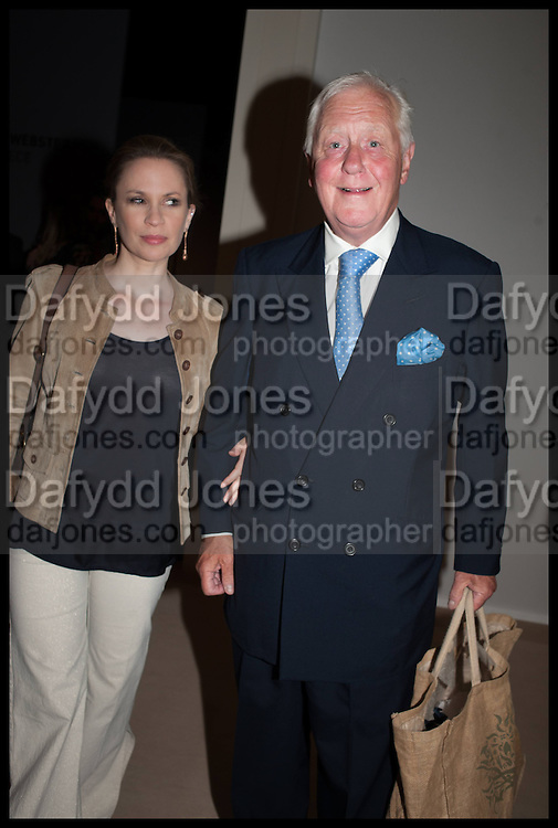 ROSANNA LE MAY; SIR BENJAMIN SLADE, Masterpiece London 2014 Preview. The Royal Hospital, Chelsea. London. 25 June 2014.