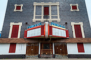 The shuttered Princess theater in Beardstown, Illinois
