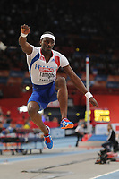 ATHLETICS - INDOOR EUROPEAN CHAMPIONSHIPS PARIS-BERCY 2011 - FRANCE - DAY 3 - 06/03/2011 - PHOTO : PHILIPPE MILLEREAU / DPPI - <br /> MEN'S TRIPLE JUMP - WORLD RECORD - 17 M 92 - TEDDY TAMGHO (FRA)