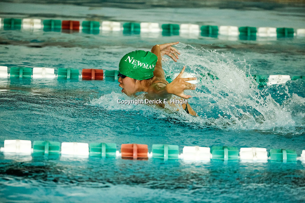 During a high school swim meet at Isidore Newman  in New Orleans, La on September 26, 2017.
