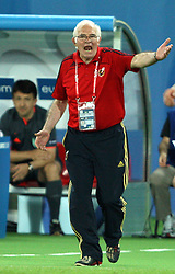 Head coach of Spain Luis Aragones during the UEFA EURO 2008 Quarter-Final soccer match between Spain and Italy at Ernst-Happel Stadium, on June 22,2008, in Wien, Austria. Spain won after penalty shots 4:2. (Photo by Vid Ponikvar / Sportal Images)