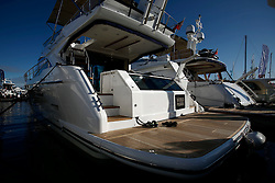 UK ENGLAND SOUTHAMPTON 17SEP11 - Motor yachts from Fairline on display at the Southampton Boatshow....The Southampton Boat Show is the biggest water based boat show in Europe. It has been held every September since 1969 in Mayflower Park, Southampton, England....jre/Photo by Jiri Rezac..© Jiri Rezac 2011