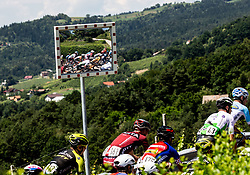 Riders in mirror during 2nd Stage of 26th Tour of Slovenia 2019 cycling race between Maribor and Celje (146,3 km), on June 20, 2019 in  Slovenia. Photo by Vid Ponikvar / Sportida