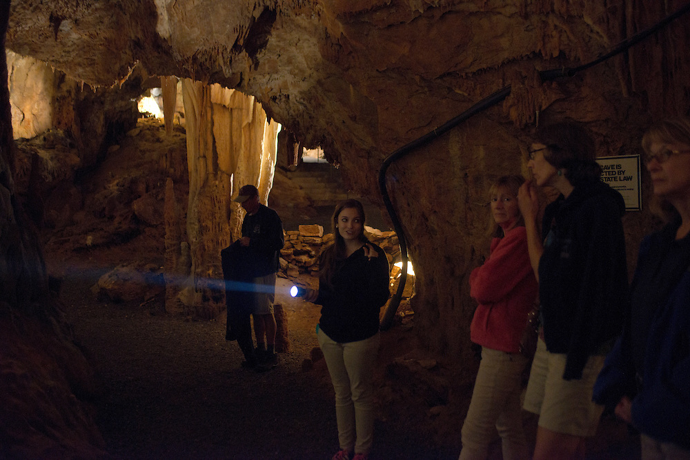 Grottoes, Virginia - Inside Grand Caverns in Grottoes.
