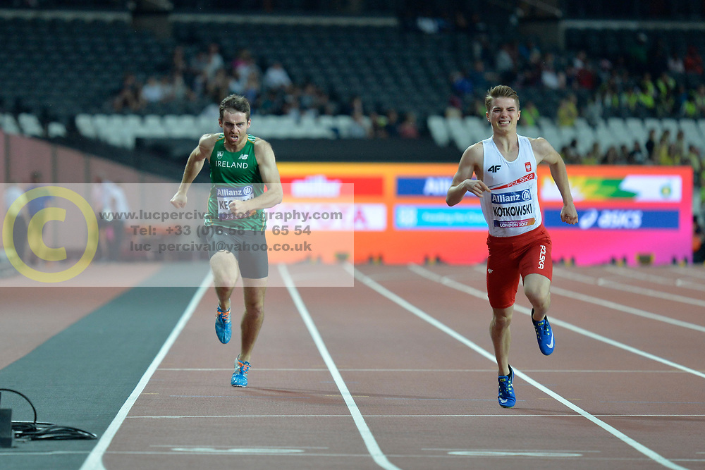 18/07/2017 : Paul Keogan (IRL), Michal Kotkowski (POL), T37, Men's 200m, Final, at the 2017 World Para Athletics Championships, Olympic Stadium, London, United Kingdom