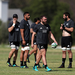 PRETORIA, SOUTH AFRICA - OCTOBER 05: Joe Moody during the Rugby Championship New Zealand All Blacks captain's run at St David's Marist Inanda 36 Rivonia Rd, Sandown, Sandton,on October 5, 2018 in Pretoria, South Africa. (Photo by Steve Haag/Getty Images)
