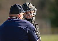 Gilford versus Prospect Mountain varsity baseball Friday, April 25, 2014..  Karen Bobotas/for the Laconia Daily Sun