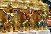 Wat Phra Keo and Grand Palace. Staues of mythical beings.