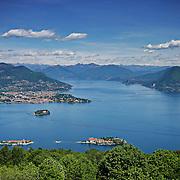 Lago Maggiore, vista panoramica dal monte Mottarone