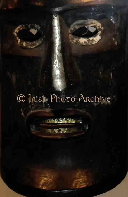 Mask used during funeral ceremonies for important people. From Sumatra, Indonesia.19th century