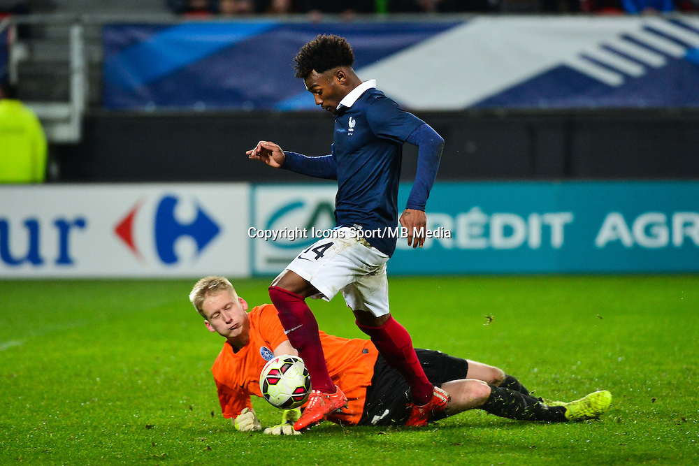 Georges Kevin NKOUDOU / Richard ALAND - 25.03.2015 - Football Espoirs - France / Estonie - Match Amical -Valenciennes<br /> Photo : Dave Winter / Icon Sport