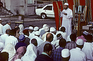 France. Marseille. Aid Muslim prayer prayer in cite Bellevue   Marseille  France    /la prière de l Aid au coeur de la cite Bellevue dans le centre de   Marseille  France  /R00015/76    L2816  /  P0005633