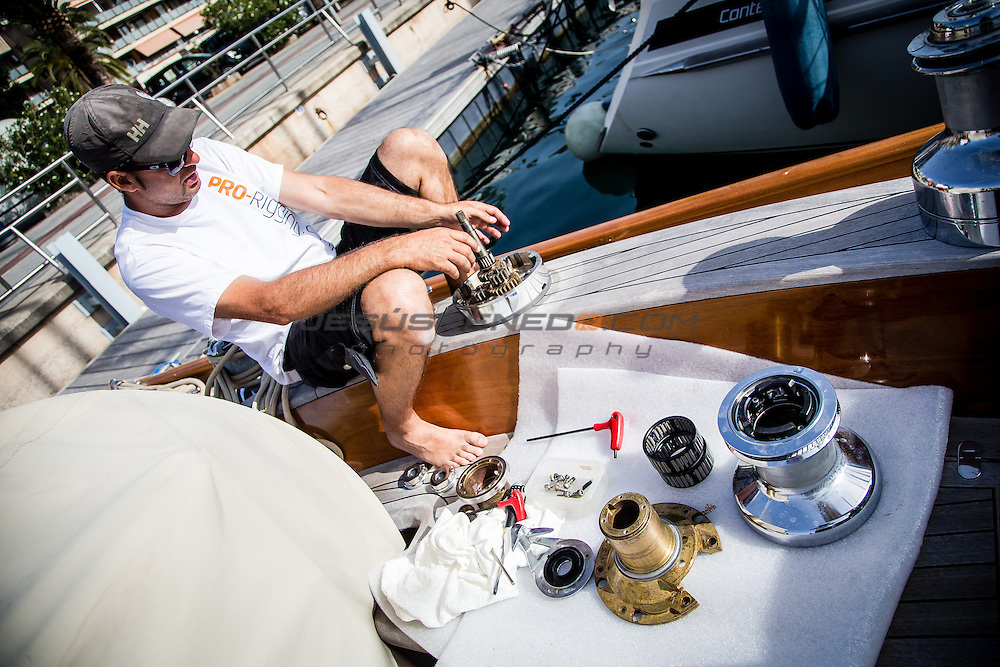 Pro-Rigging crew in Palma de Mallorca. May 12th 2015 ©Jesus Renedo