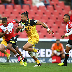 JOHANNESBURG, SOUTH AFRICA - APRIL 30: Matt Proctor of the Hurricanes during the Super Rugby match between Emirates Lions and Hurricanes at Emirates Airline Park on April 30, 2016 in Johannesburg, South Africa. (Photo by Steve Haag/Gallo Images)