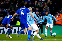 Raheem Sterling of Manchester City runs with the ball - Mandatory by-line: Robbie Stephenson/JMP - 18/12/2018 - FOOTBALL - King Power Stadium - Leicester, England - Leicester City v Manchester City - Carabao Cup Quarter Finals